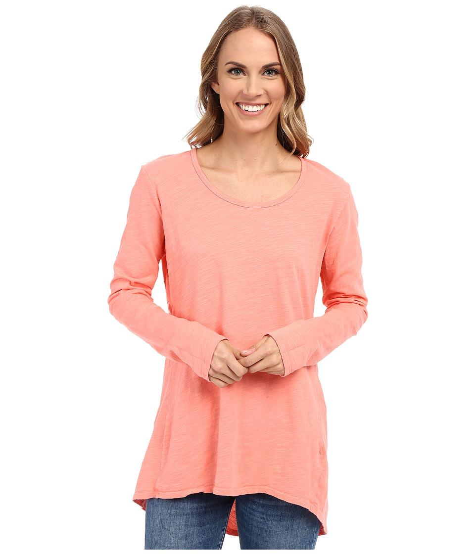 Fresh Produce Long Sleeve Luna Top Melon Sherbert Womens Clothing