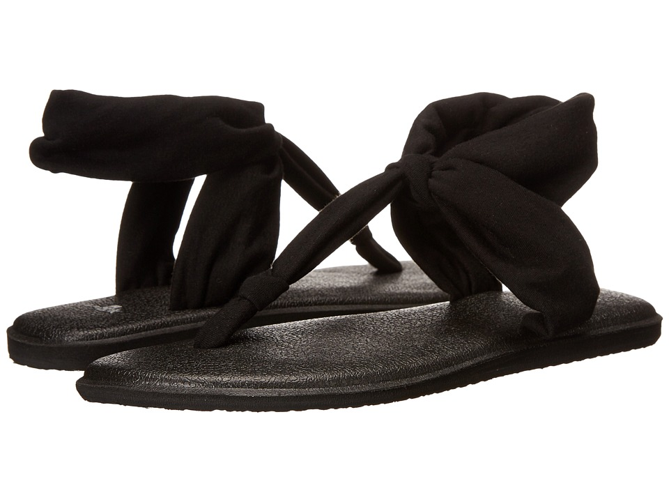 Sanuk Yoga Sling Ella (Black) Sandals