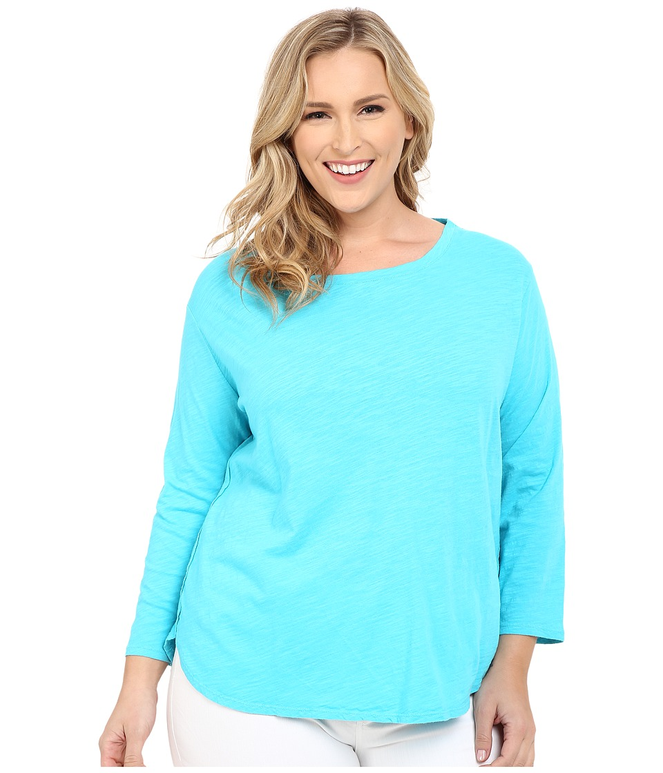 Fresh Produce Plus Size Catalina Shirt Luna Turquoise Womens Clothing