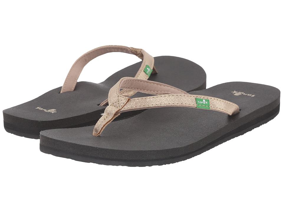 Sanuk Yoga Joy Metallic (Champagne) Sandals