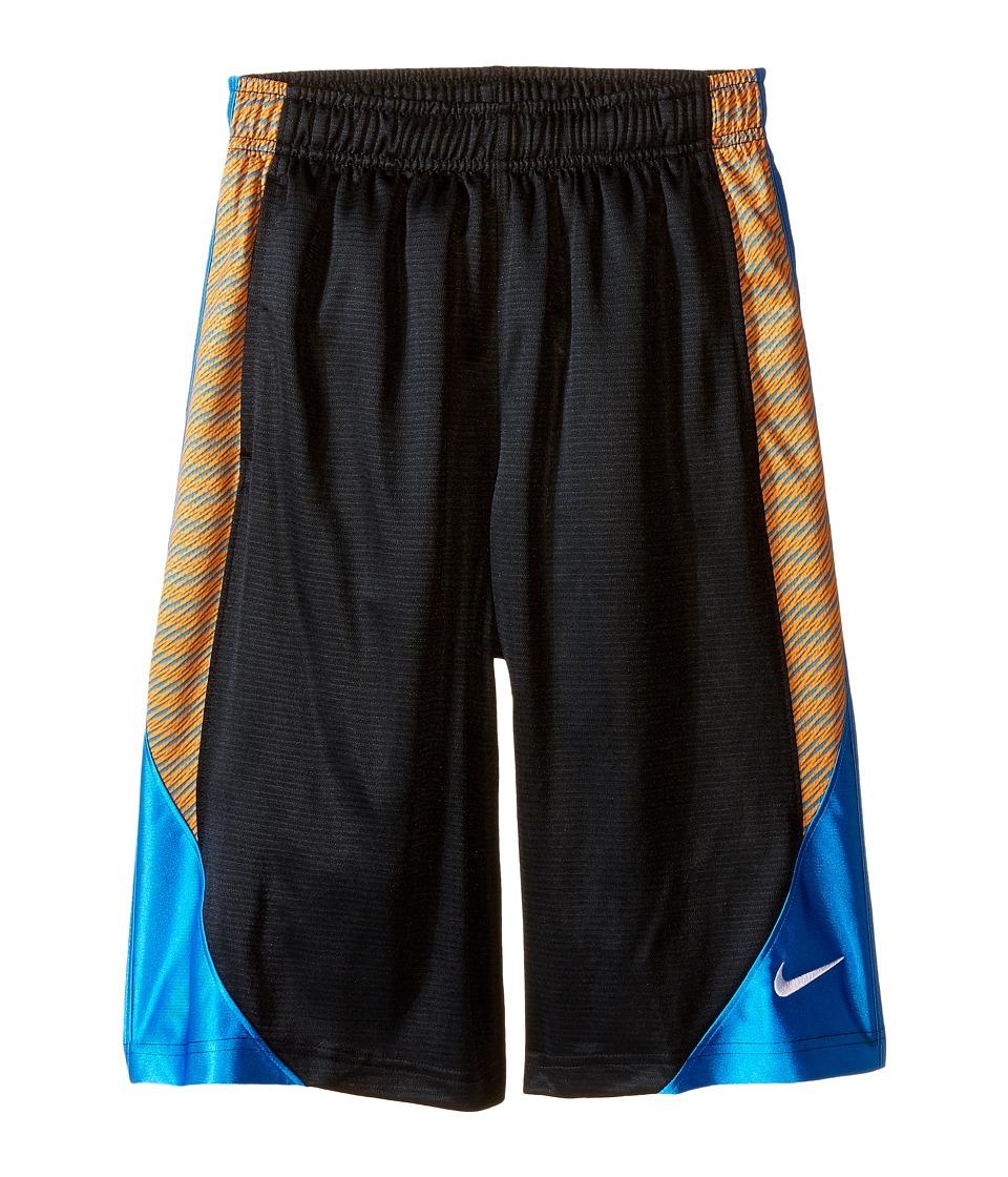 Nike Kids Avalanche Aop6 Shorts Little Kids/Big Kids Black/Photo Blue/Photo Blue/White Boys Shorts