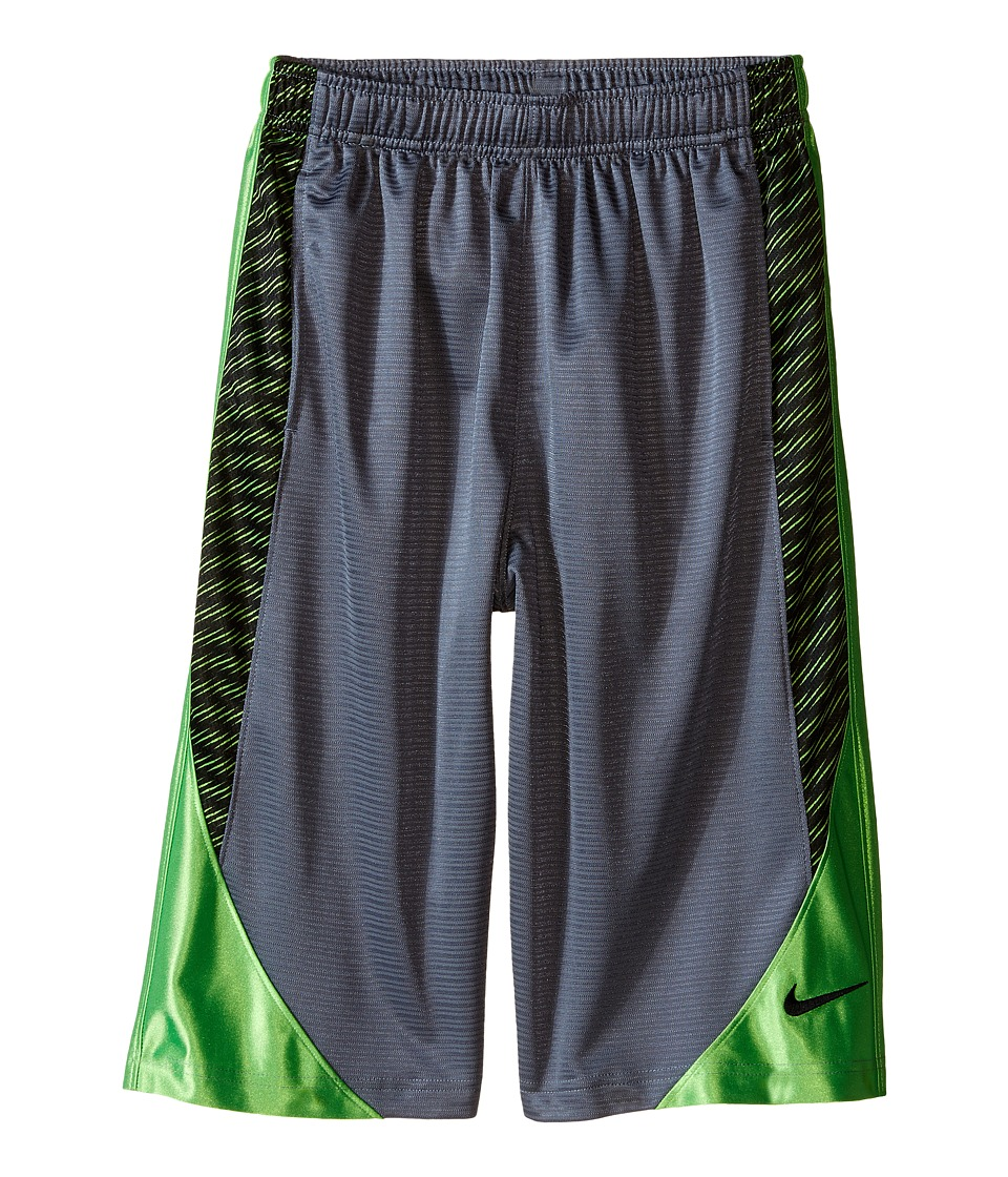 Nike Kids Avalanche Aop6 Shorts Little Kids/Big Kids Cool Grey/Action Green/Black Boys Shorts