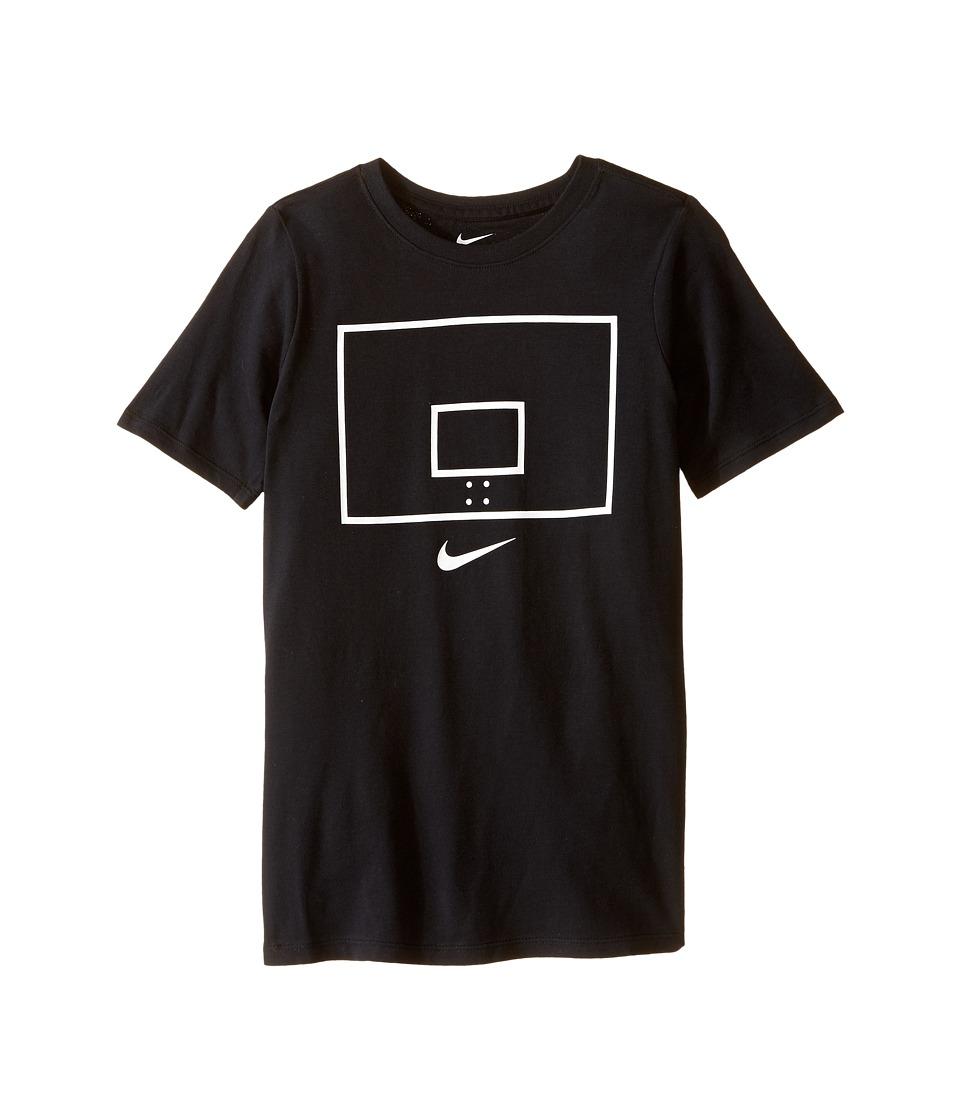 Nike Kids Backboard Image TD Tee Little Kids/Big Kids Black Boys T Shirt