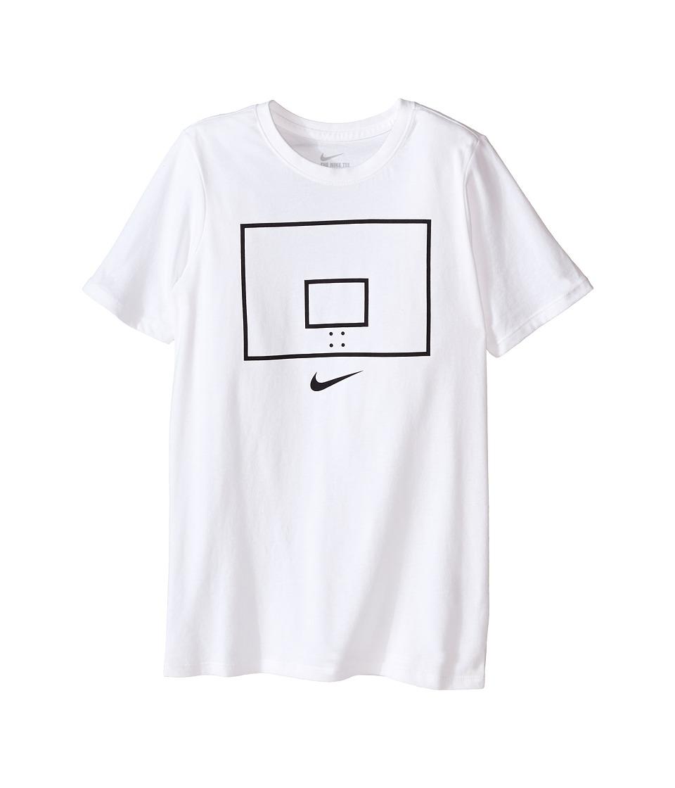 Nike Kids Backboard Image TD Tee Little Kids/Big Kids White Boys T Shirt