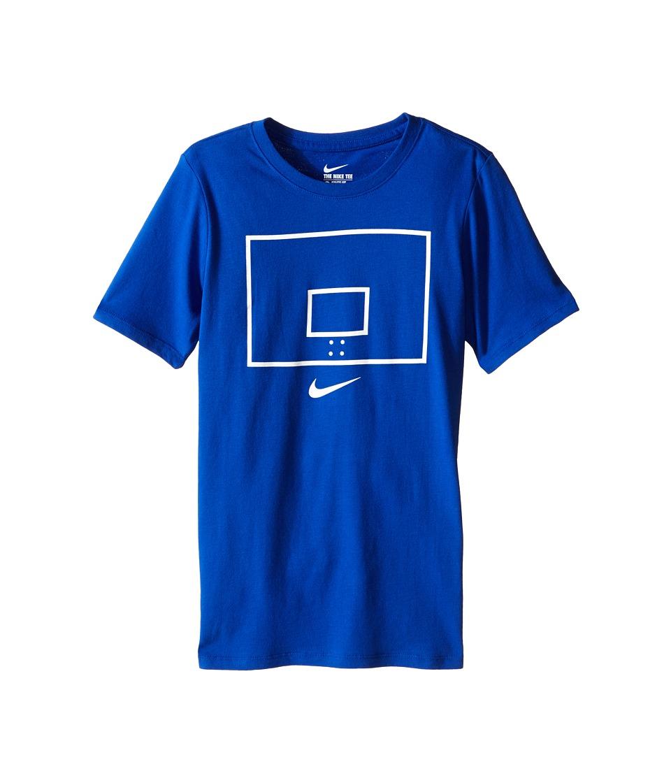 Nike Kids Backboard Image TD Tee Little Kids/Big Kids Game Royal Boys T Shirt