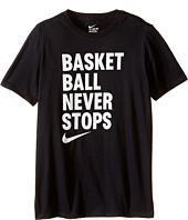 Nike Kids - Basketball Never Stops Tee (Little Kids/Big Kids)