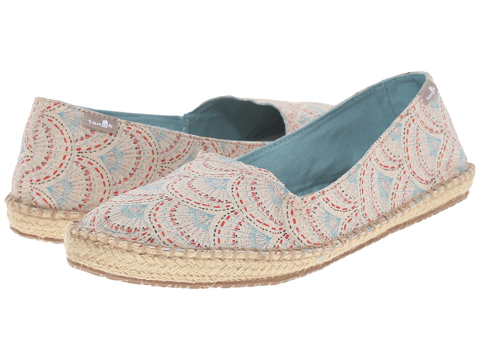 Sanuk Natal Ivory Sunrise Womens Flat Shoes