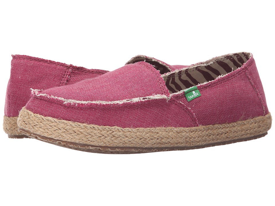 Sanuk Fiona Dusty Boysenberry Womens Slip on Shoes