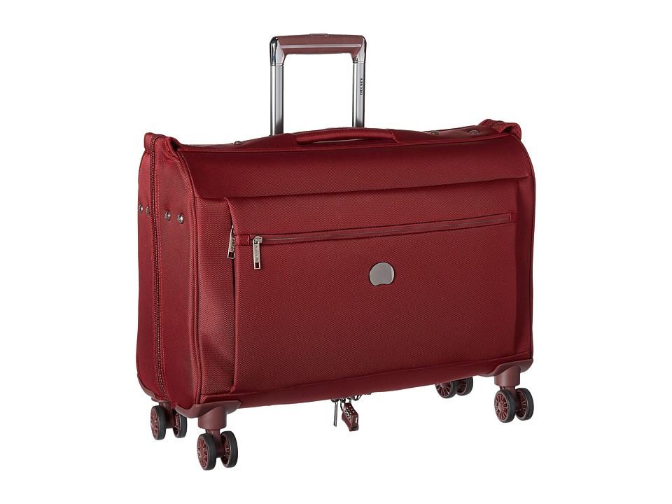 Delsey - Montmartre Carry-On Spinner Trolley Garment Bag (Bordeaux) Luggage