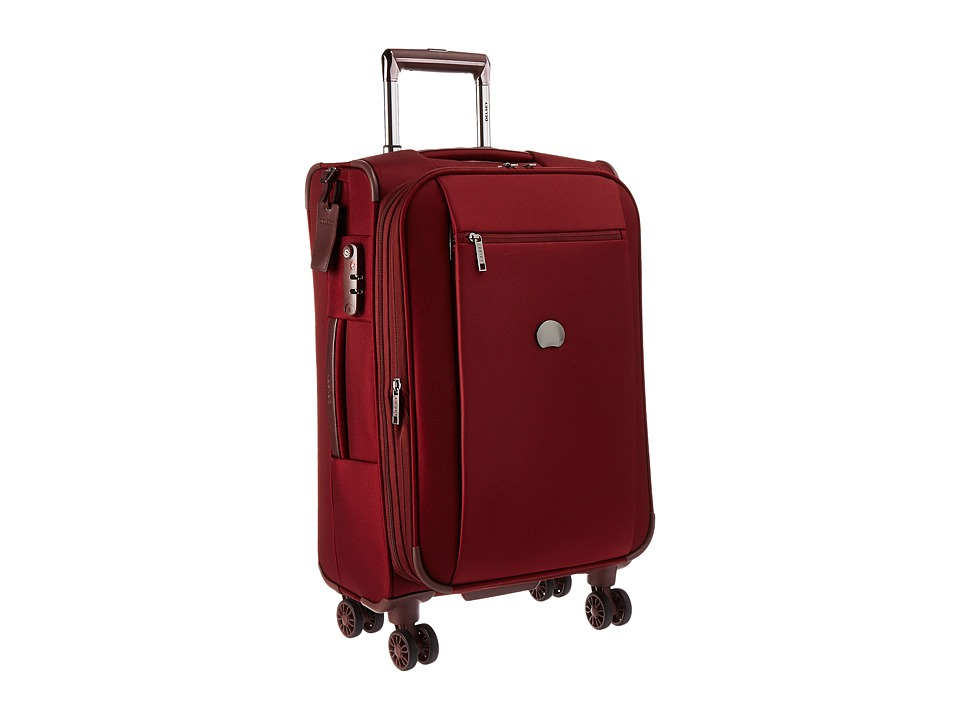 Delsey - Montmartre Carry-On Expandable Spinner Trolley (Bordeaux) Luggage