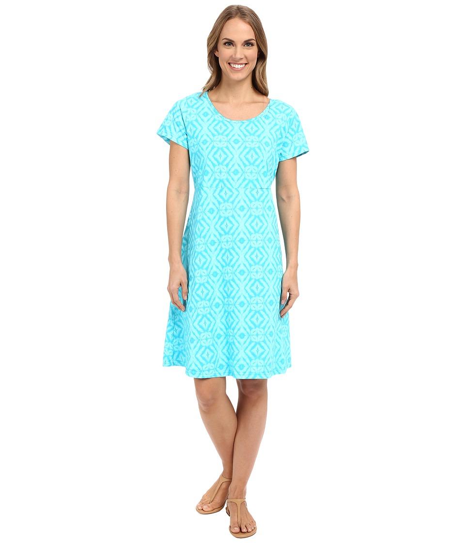 Fresh Produce Shibori Sadie Dress Luna Turquoise Womens Dress