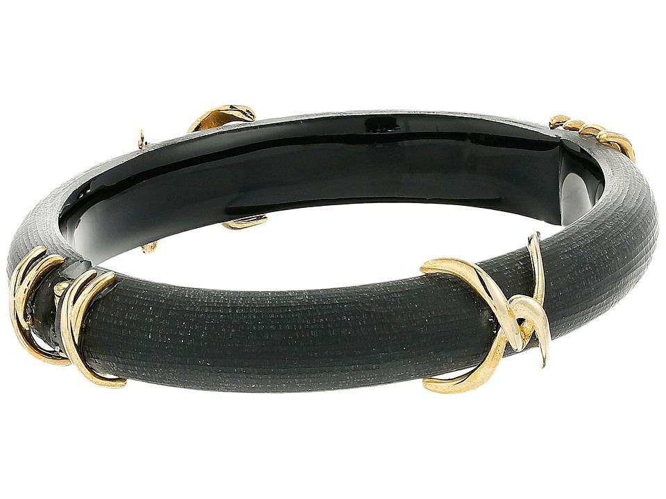 Alexis Bittar Liquid Metal X Motif Hinge Bracelet Black Bracelet