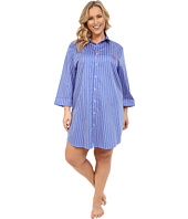 LAUREN by Ralph Lauren - Plus Size Sateen 3/4 Sleeve Sleepshirt
