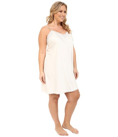 Lauren ralph lauren plus size satin chemise ivory 6pmcom for Robe chemise ralph lauren