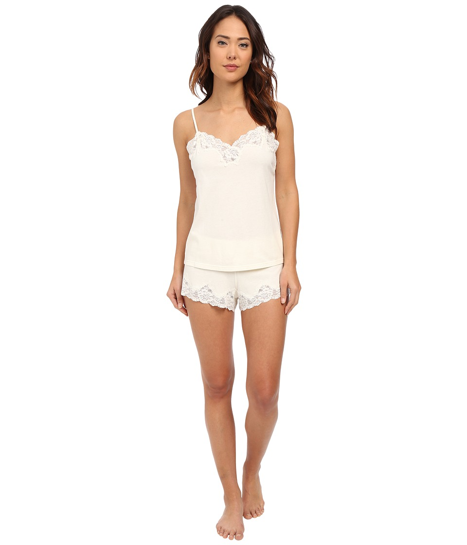 LAUREN Ralph Lauren Knit Cami Top Pajama Set Ivory Womens Pajama Sets