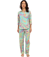 LAUREN by Ralph Lauren - Sateen 3/4 Sleeve Pajamas