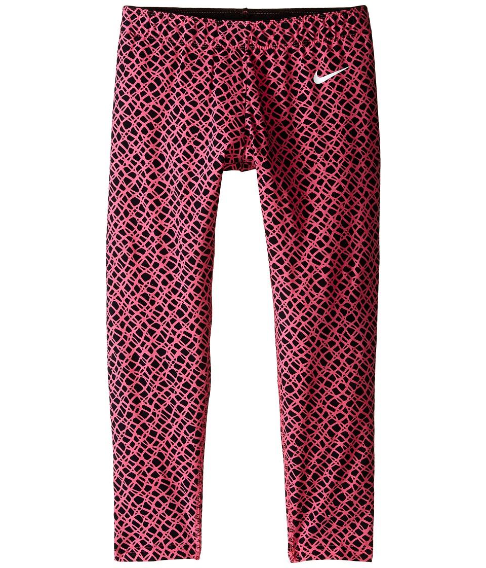 Nike Kids Club Leggings Crop AOP Little Kids/Big Kids Black/Digital Pink/White Girls Casual Pants