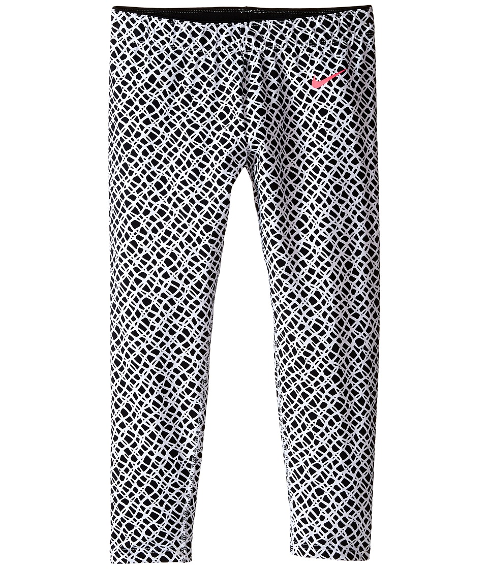 Nike Kids Club Leggings Crop AOP Little Kids/Big Kids White/Hyper Pink Girls Casual Pants