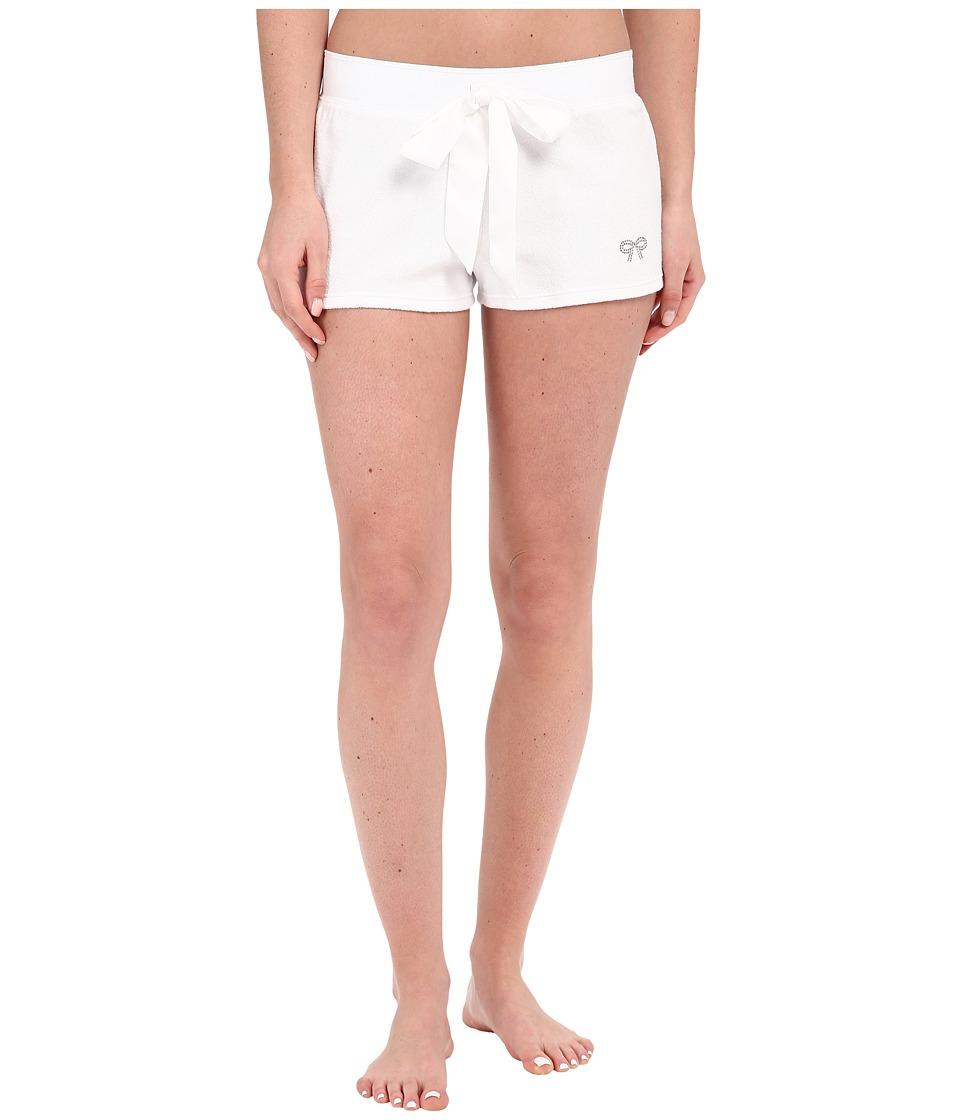Betsey Johnson Baby Terry Shorts Sonic White Womens Pajama