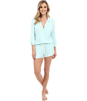 Betsey Johnson - Rayon Knit Satin Emroidered Romper