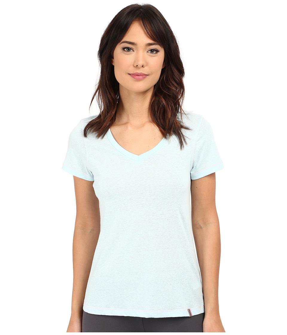 Jane amp Bleecker Drapey Jersey V Neck Tee 3561100 Blue Womens Pajama