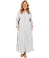 Carole Hochman - Plus Size Waffle Knit Zip Robe