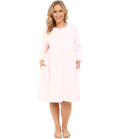Carole Hochman - Plus Size Short Waffle Knit Zip Robe