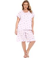 Carole Hochman - Plus Size Novelty Print Bermuda Pajama Set