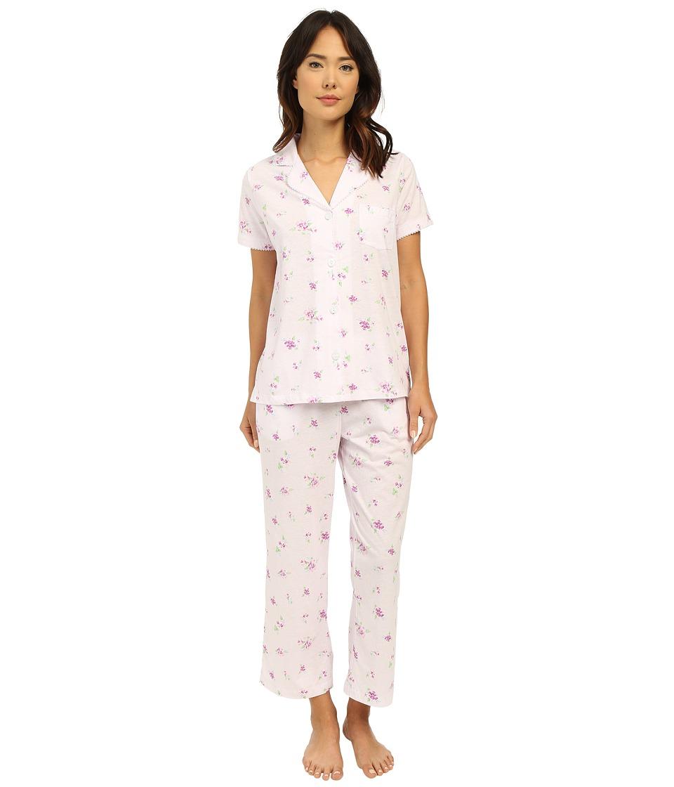 Carole Hochman Capris Pajama Twin Violet Womens Pajama Sets