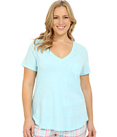 Jockey - Plus Size Short Sleeve V-Neck Slub Tee
