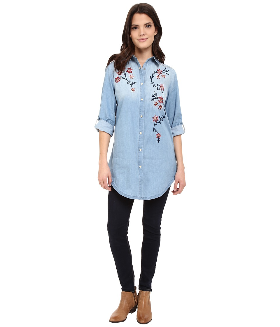 Tasha Polizzi Wigwam Shirt Blue Wash Womens Clothing