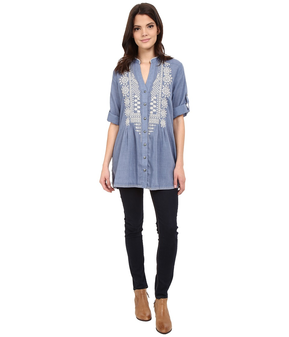 Tasha Polizzi Adelaide Shirt Chambray 2 Womens Clothing