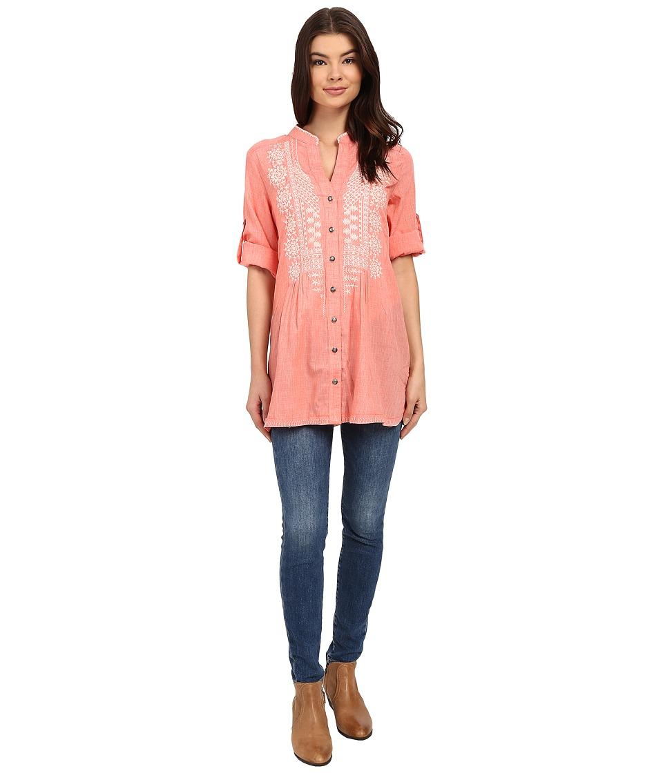 Tasha Polizzi Adelaide Shirt Coral Womens Clothing