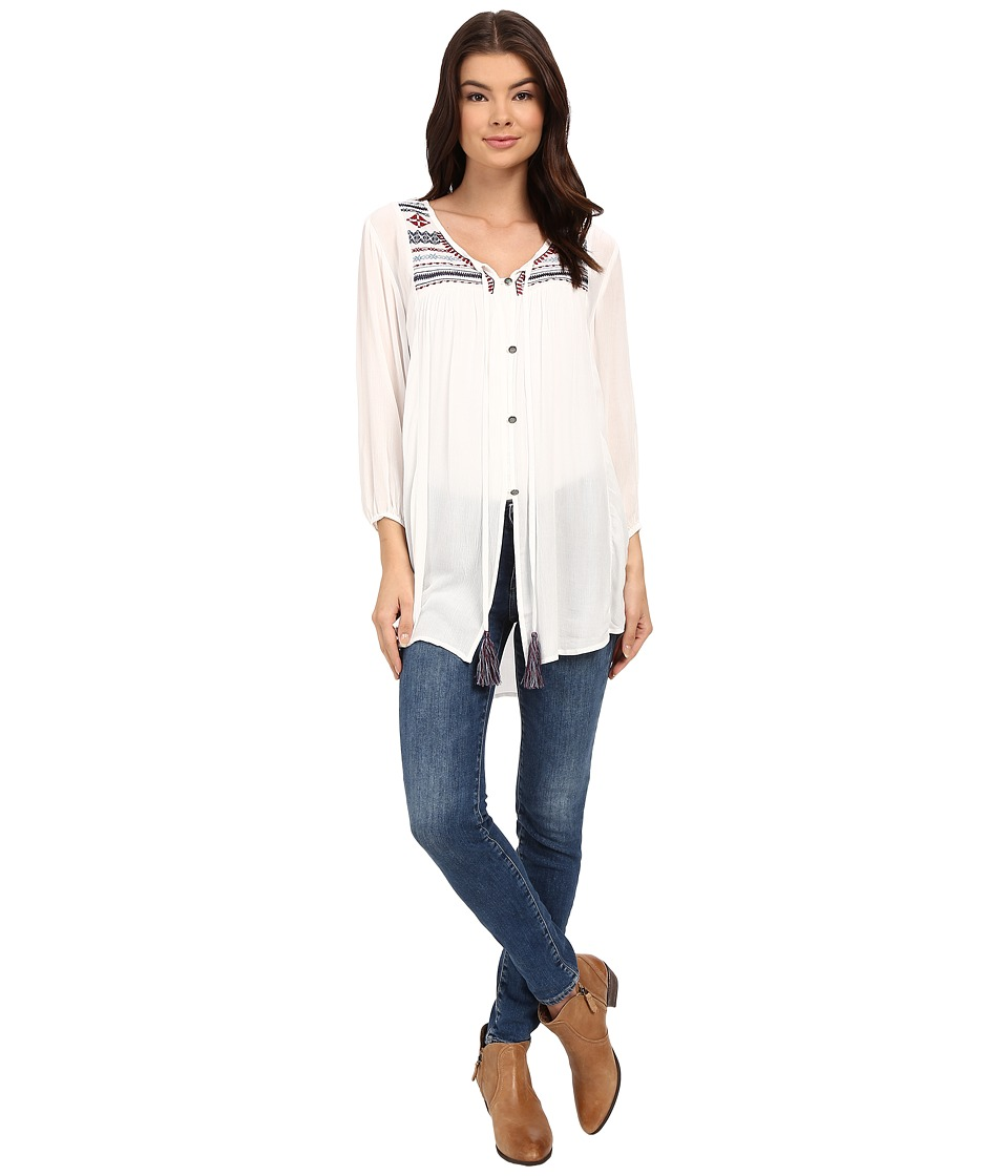 Tasha Polizzi Parade Shirt Ivory Womens Clothing
