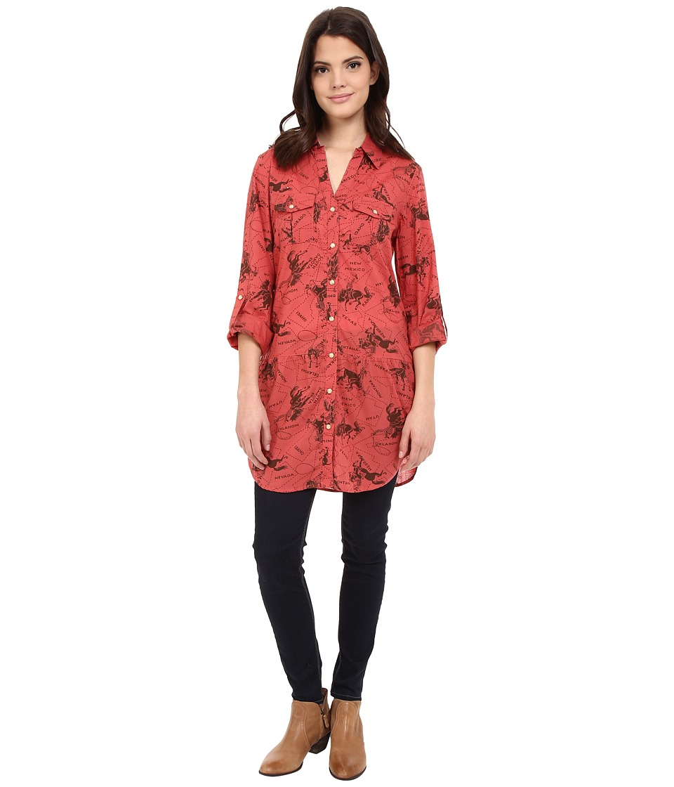 Tasha Polizzi Four Corners Tunic Red Womens Blouse