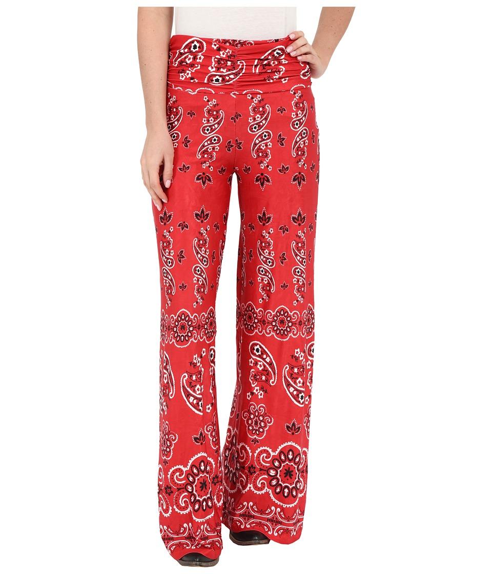 Tasha Polizzi Bandana Pants Red Womens Casual Pants