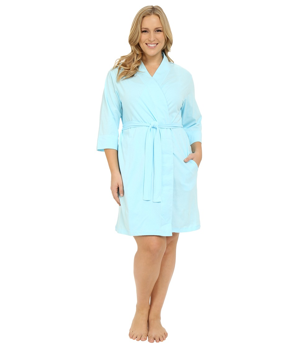Jockey Jockey Cotton Essentials Plus Size Robe Surf Blue Womens Robe