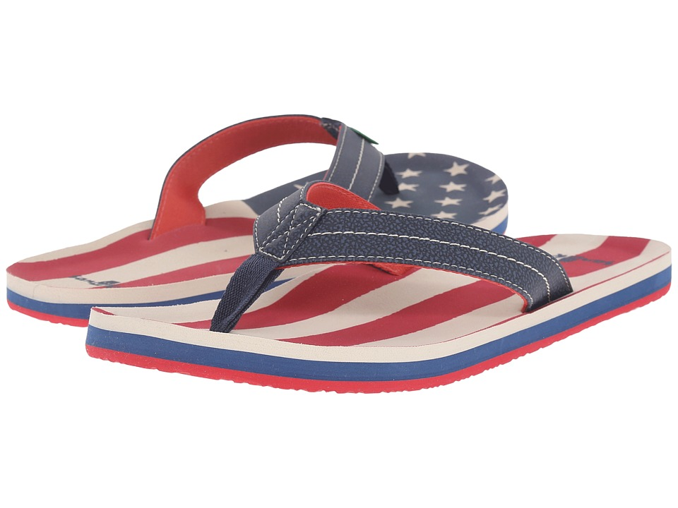 Sanuk Burm Patriot American Flag Mens Sandals