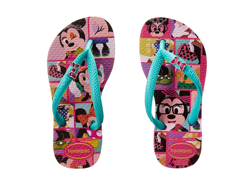 Havaianas Kids Disney Cool Toddler/Little Kid/Big Kid Wonder/Lake Green Girls Shoes