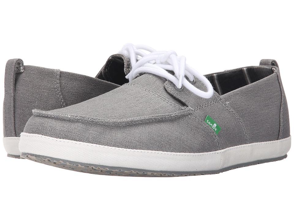 Sanuk Admiral Grey Mens Slip on Shoes