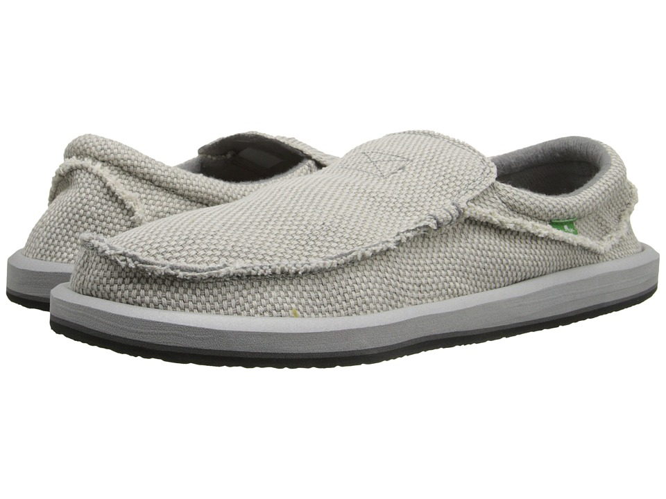 Sanuk Chiba Light Grey Mens Slip on Shoes