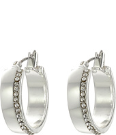 LAUREN Ralph Lauren - Downtown Chic Small Metal Pave Click-It Hoop Earrings