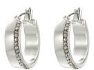 LAUREN Ralph Lauren Downtown Chic Small Metal Pave Click-It Hoop Earrings