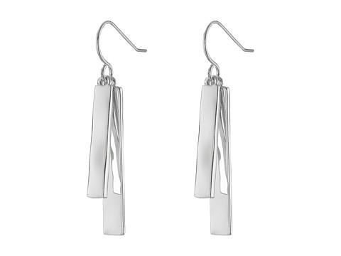 LAUREN Ralph Lauren Downtown Chic Double Bar Drop Earrings - Silver