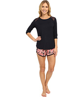 Midnight by Carole Hochman - Modal Shorty Pajama with Lace