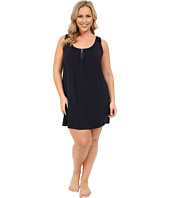 Midnight by Carole Hochman - Plus Size Modal Chemise with Satin