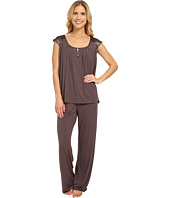 Midnight by Carole Hochman - Modal Short Sleeve Pajama with Satin