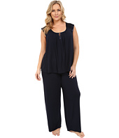 Midnight by Carole Hochman - Plus Size Modal Short Sleeve Pajama with Satin