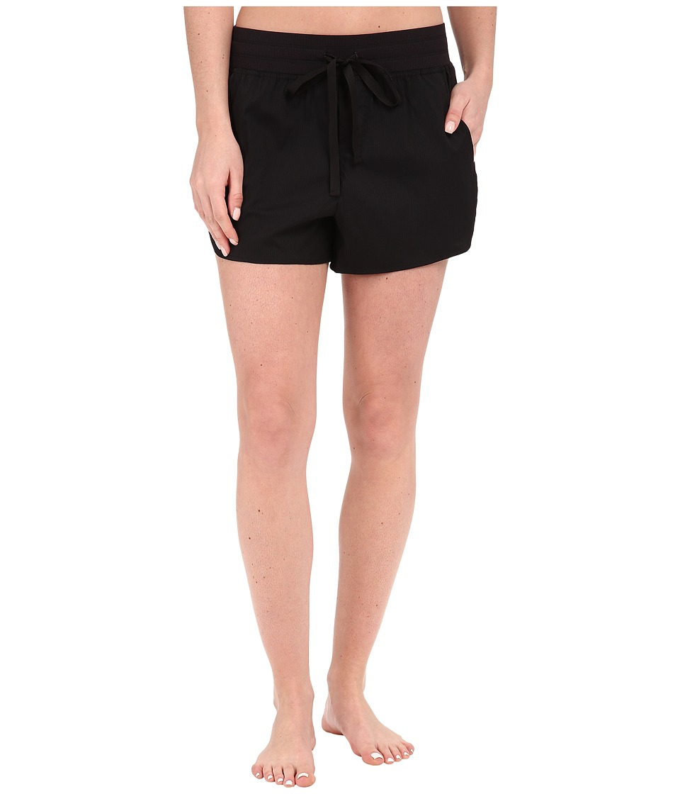 Midnight by Carole Hochman Lounge Woven Shorts Black Womens Pajama