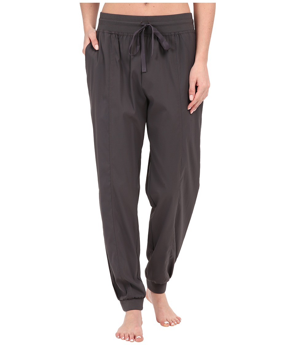Midnight by Carole Hochman Lounge Woven Jogger Pants Dim Grey Womens Pajama